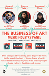 The Business of Art: Music Industry Panel by PwC Center for Diversity and Inclusion, Maxwell Adepoju, Ramya Velury, and Emmanuel Madu