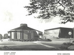 Architect's rendition of the Student Center (Communication Complex 2005-)