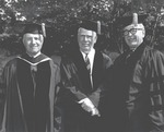 Commencement 1968, President and Two Honorary Degree Recipients