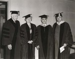 Commencement Luncheon, August 10, 1945, Thomas J. Watson, Alice Dixon Bond, Harry Jacobs, J. Howard McGrath