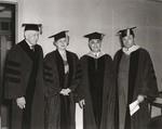 Commencement Luncheon, August 10, 1945, Thomas J. Watson,  Alice Dixon Bond, Harry Jacobs, J. Howard McGrath