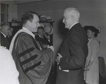 Commencement Luncheon. August 10, 1945, J. Howard McGrath and Thomas J. Watson