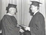 Robert Aubin Belanger Receives Award During Class Day, 1950.
