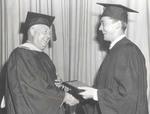 Robert Aubin Belanger Receives Award During Class Day, 1950.