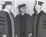 McGraph, Jacobs, and Sawyer at Commencement, August 4, 1950