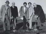 Ground Breaking Ceremony for Student Center, Bryant College