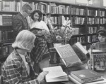 Students reading in Henry L. Jacobs Library
