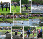 President Machtley Jumping in Pond