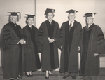 Honary Degree Recipents with President Jacobs, Commencement 1953