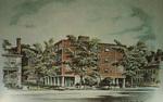 Postcard Rendition of Gardner Hall, Power Street, Providence, Rhode Island
