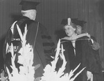 Nellie Taylor Ross Receiving Honorary Degree at Bryant's 1950 Commencement
