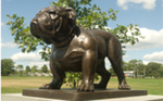 Class of 2009 Gift -- Two Bulldog Statues Adorning Bulldog Stadium Second Entrance