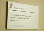 Class of 2002 Gift -- Technology and Furnishings in the Bello Center Cafe